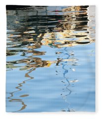 Reflections - White Fleece Blanket