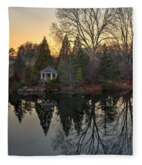 Reflections At Sunset Fleece Blanket