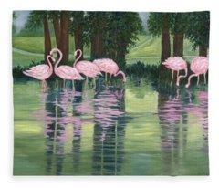 Reflections In Pink Fleece Blanket