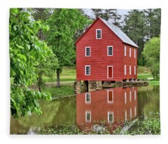 Reflections Of A Retired Grist Mill Fleece Blanket