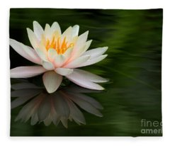 Reflections Of A Water Lily Fleece Blanket