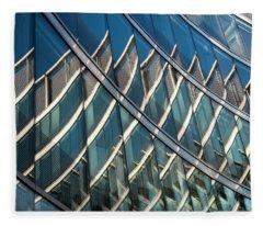 Reflections On Building Windows Fleece Blanket