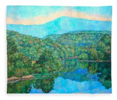 Reflections On The James River Fleece Blanket