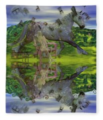 Reflective Oz Fleece Blanket