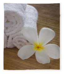Relax At The Spa Fleece Blanket