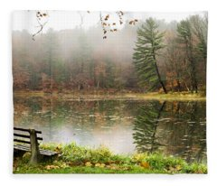 Fleece Blanket featuring the photograph Relaxing Autumn Beauty Landscape by Christina Rollo