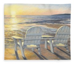 Relaxing Sunset Fleece Blanket