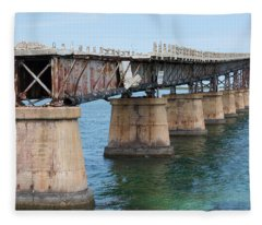 Relic Of The Old Florida Keys Overseas Railroad Fleece Blanket