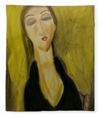 Sophisticated Lady With The Dreamy Eyes Fleece Blanket