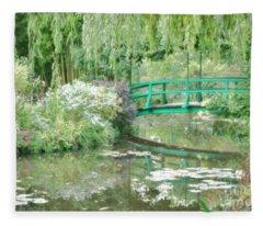 Remembering Monet  Fleece Blanket