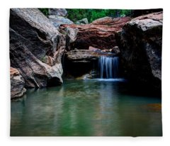 Remote Falls Fleece Blanket