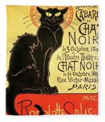 Reopening Of The Chat Noir Cabaret Fleece Blanket