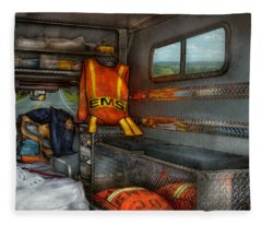Rescue - Emergency Squad  Fleece Blanket