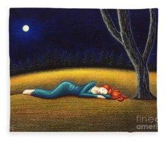Rest For A Weary Heart Fleece Blanket