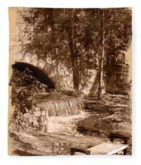 Resting Place - Digital Charcoal Drawing Fleece Blanket