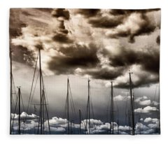 Resting Sailboats Fleece Blanket