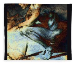 Resting With Texture Square Fleece Blanket