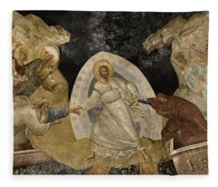 Resurrection Of Adam And Eve Panorama Fleece Blanket