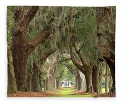 Retreat Avenue Of The Oaks Fleece Blanket