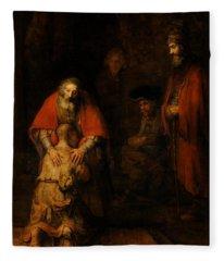 Return Of The Prodigal Son  Fleece Blanket