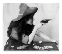 Revolver Girl Fleece Blanket