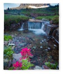 Reynolds Mountain Paintbrush Fleece Blanket