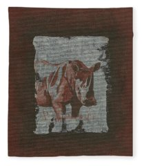 Rhinoceros Fleece Blanket