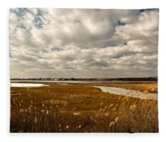 Rhode Island Marshes 1 Fleece Blanket
