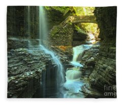Rainbow Falls Watkins Glen Fleece Blanket
