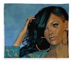 Rihanna Fleece Blankets