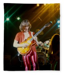 Rik Emmett Of Triumph At The Warfield Theater In San Francisco Fleece Blanket