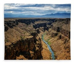 Rio Grande Gorge 1 Fleece Blanket