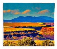 Rio Grande Gorge Lv Fleece Blanket