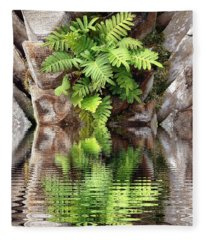 Ripples And Reflection Fleece Blanket