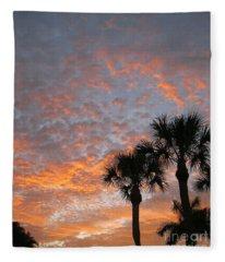 Rise And Shine. Florida. Morning Sky View Fleece Blanket