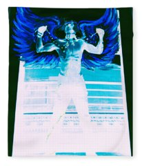 Rising Angel Fleece Blanket