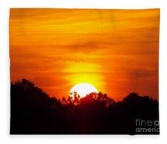 Rising Sun Fleece Blanket