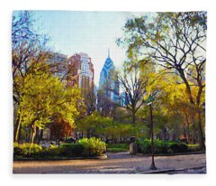 Rittenhouse Square In The Spring Fleece Blanket