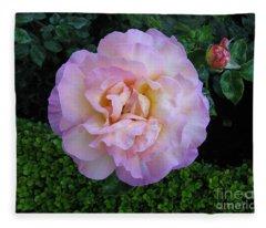 Ritzy Pink Rose Fleece Blanket