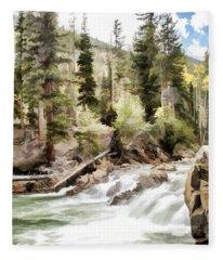 River Boulders Fleece Blanket