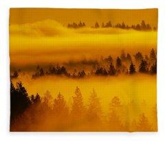 River Fog Rising Fleece Blanket