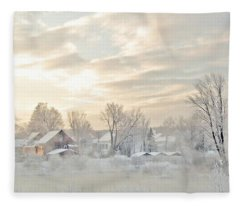 River Mist On A Very Cold New Hampshire Morning Fleece Blanket