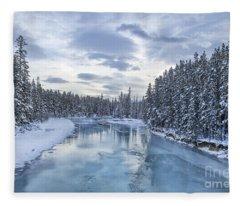 River Of Ice Fleece Blanket