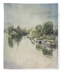 River Seine In Paris Fleece Blanket