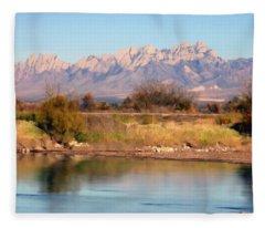 River View Mesilla Panorama Fleece Blanket