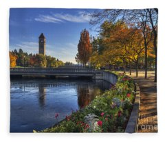 Riverfront Park - Spokane Fleece Blanket
