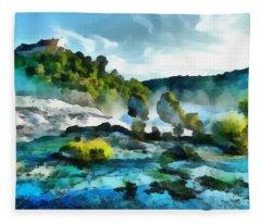 Riverscape Fleece Blanket