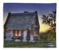 Riverside Cemetery Fleece Blanket