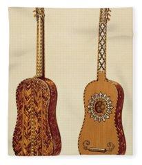 Rizzio Guitar, From Musical Instruments Fleece Blanket