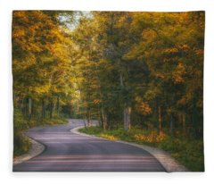 Road To Cave Point Fleece Blanket